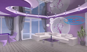 3Д проекти - триизмерни проекти на декоративни окачени и опънати тавани, сводове и интериорни стени.