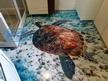 3Д подове - Полимерен 3д под в баня - Костенурка.