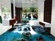 Проект на полимерен 3Д под и 3Д стена в баня - Водопади.