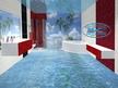 3Д подове и 3Д стени - полимерни 3Д под и стена в баня - Водопад.