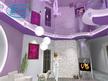 3Д проекти на окачени тавани и опънати тавани в хол.