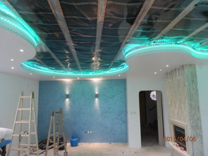 Инфрачервено лъчисто отопление в опънати тавани, опънати стени и подове.