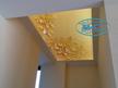 Опънати тавани - светещ опънат таван с фотопечат.