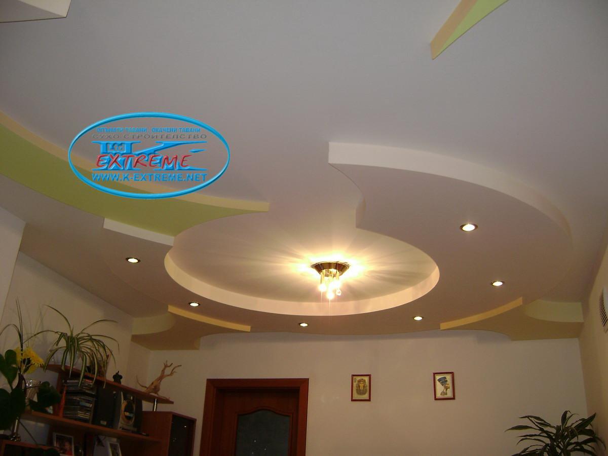 Узоры на потолок с гипсокартона на зал фото