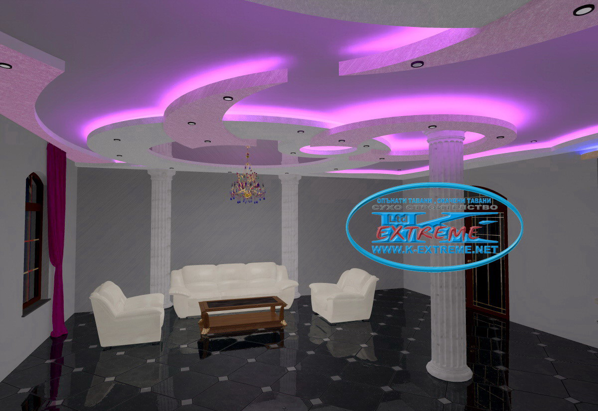 Гипсокартон идеи потолок