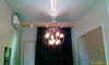 Stretch ceiling K-Extreme with chandelier.