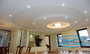 Ceilings ideas - Plasterboard ceilings in a living room.