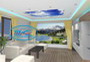 Three-dimensional design - ceilings ideas - gypsum board ceilings, stretch ceilings, stretch walls with photoprint.